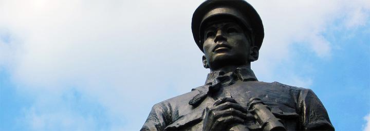 the hero statue